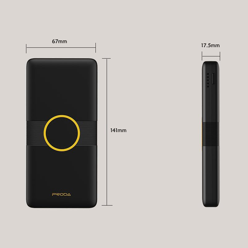 Proda Power Bank 10000mAh with Wireless Charger Qi black (PD-P29 black)