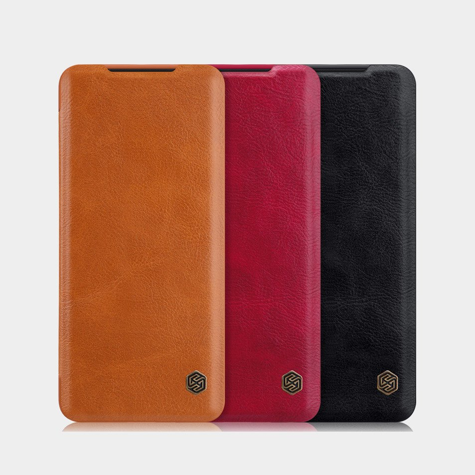 Nillkin Qin original leather case cover for Samsung Galaxy S20 black