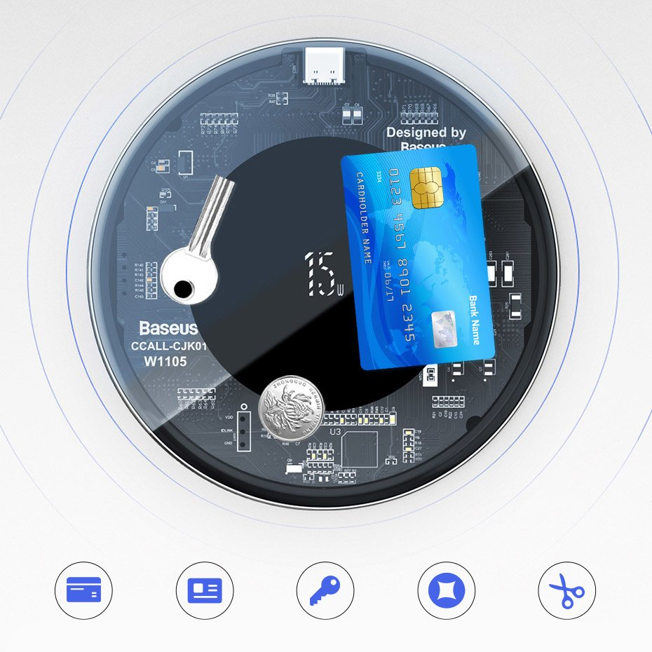 Baseus Simple Fast Wireless Charger (Updated Version) Qi 15 W white (WXJK-B02)