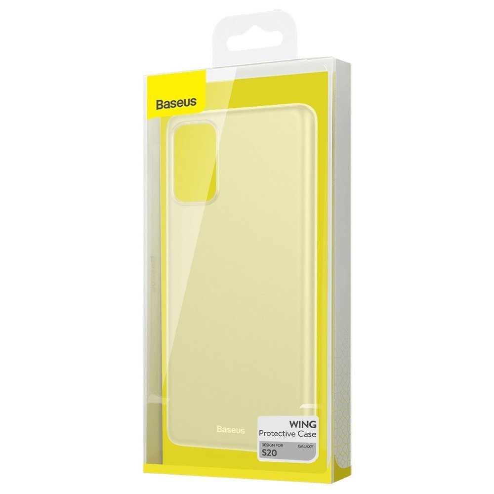 Baseus Wing Case Ultra Thin Lightweight PP Cover for Samsung Galaxy S20 translucent (WISAS20-02)
