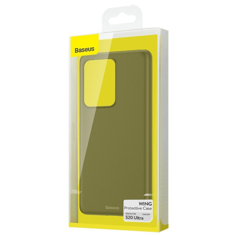 Baseus Wing Case Ultra Thin Lightweight PP Cover for Samsung Galaxy S20 Ultra black (WISAS20U-01)