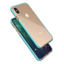 Spring Case clear TPU gel protective cover with colorful frame for iPhone XS Max black