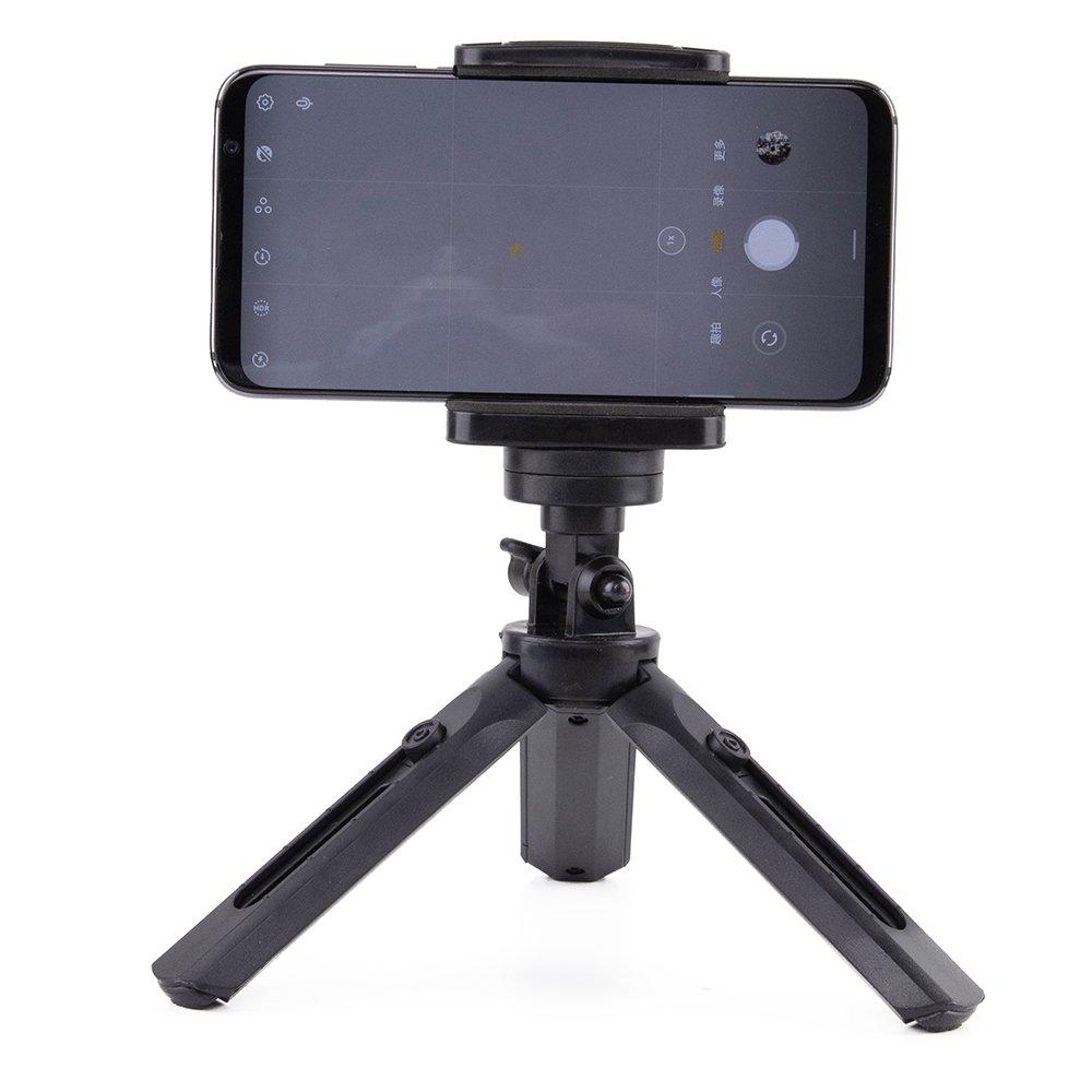Mini Tripod with phone holder mount selfie stick camera GoPro holder black