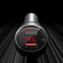 Baseus 2x USB car charger 45 W 5 A Quick Charge 3.0 Huawei SCP with LED display gray (CCBX-B0G)