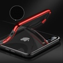 Clear Color Case Gel TPU Electroplating frame Cover for iPhone 8 Plus / iPhone 7 Plus black