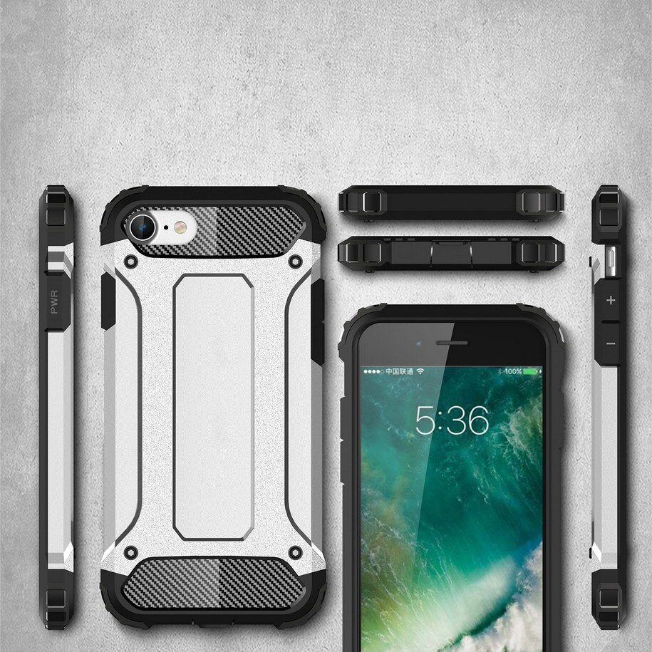 Hybrid Armor Case Tough Rugged Cover for iPhone SE 2020 / iPhone 8 / iPhone 7 black