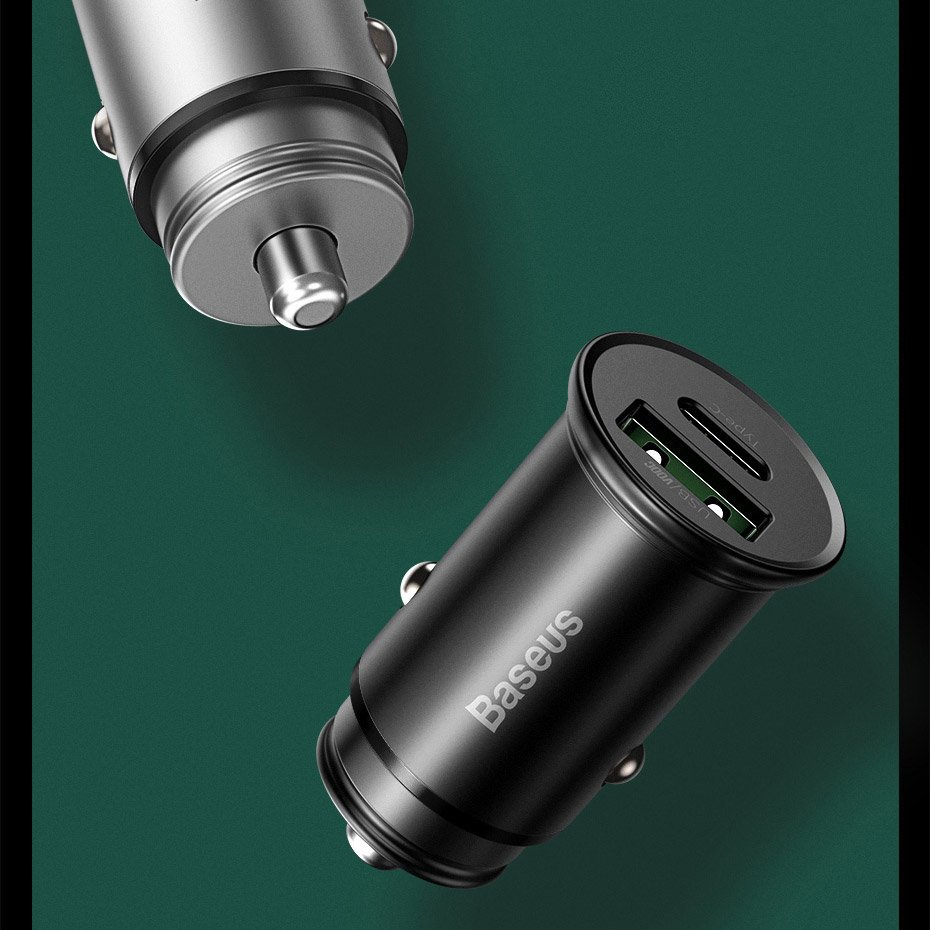 Baseus PPS quick car charger USB / USB Typ C Quick Charge 4.0 QC4+ Power Delivery 3.0 VOOC SCP AFC MTKPE black (CCYS-C01)