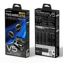 WK Design TWS Blutooth True Wireless Earbuds with Wireless Charging Case black (V5 black)