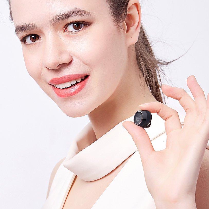 Nillkin E1 Liberty TWS True Wireless Earphones Bluetooth 5.0 IPX4 water-resistance black-gold (E1 black-gold)