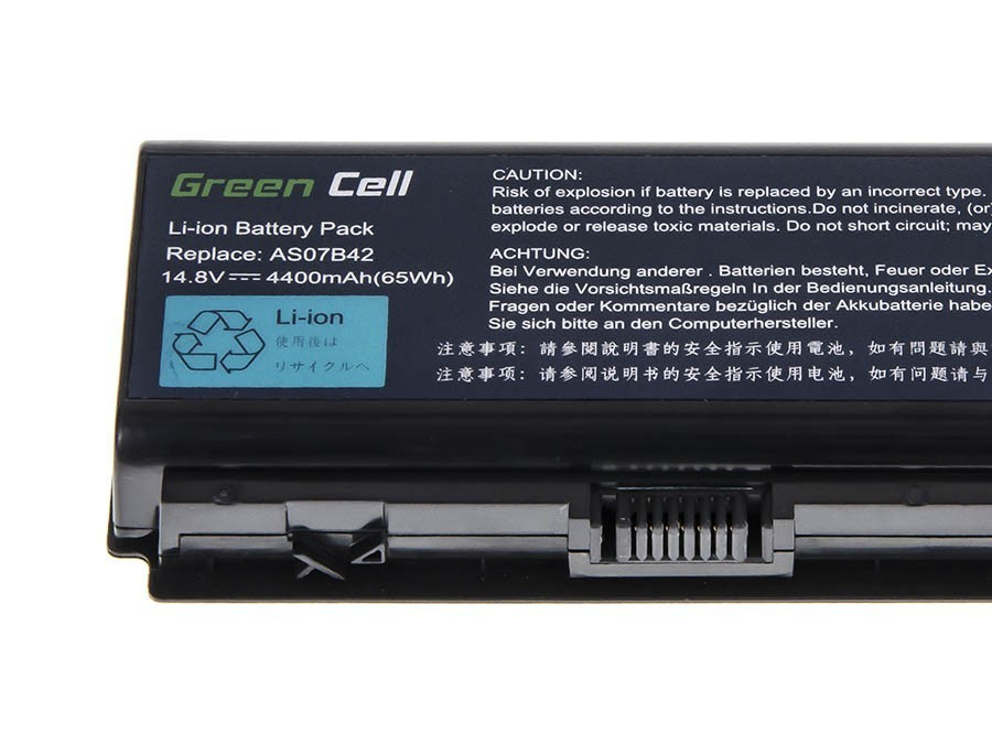 Green Cell Battery for Acer Aspire 5520 AS07B31 AS07B32 / 14,4V 4400mAh