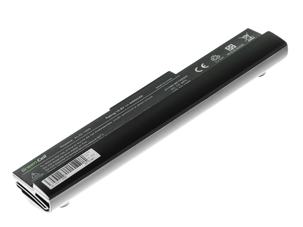 Green Cell Battery for Asus Eee-PC 1001 1001P 1005 1005P 1005H (black) / 11,1V 4400mAh