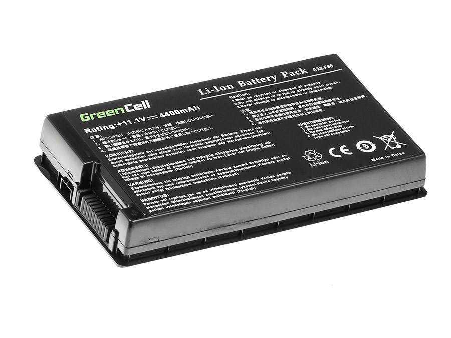 Green Cell Battery for Asus F50 F80S N60 X60 X61 / 11,1V 4400mAh