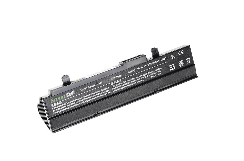 Green Cell Battery for Asus Eee-PC 1015 1215 1215N 1215B (black) / 11,1V 6600mAh