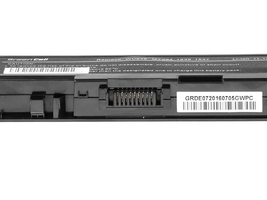 Green Cell Battery for Dell Studio 15 1535 1536 1537 1550 1555 1558 / 11,1V 4400mAh