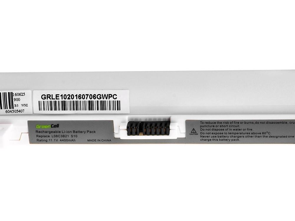 Green Cell Battery for Lenovo IdeaPad S9 S9e S10 S10e S10C S12 (white) / 11,1V 4400mAh
