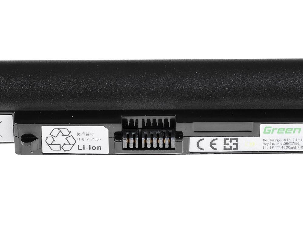 Green Cell Battery for Lenovo IdeaPad S10-2 S10-2C S10-3c (black) / 11,1V 4400mAh