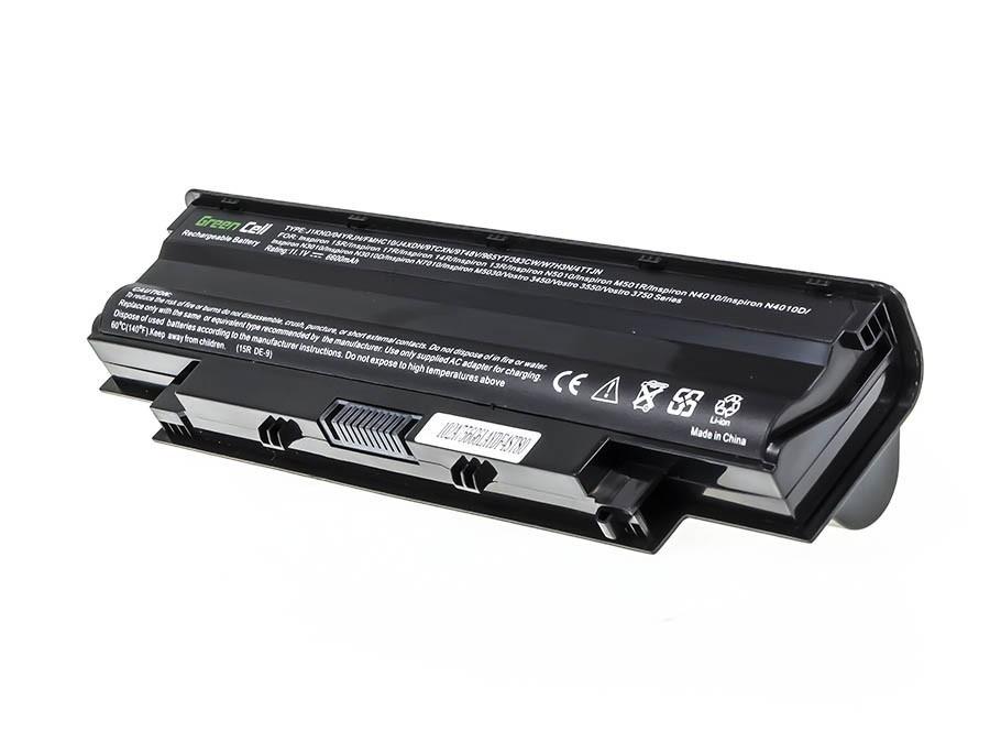 Green Cell Battery for Dell Inspiron N3010 N4010 N5010 13R 14R 15R J1 (bottom) / 11,1V 6600mAh