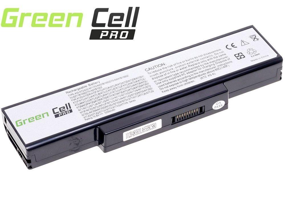 Green Cell PRO Battery for Asus A32-K72 K72 K73 N71 N73 / 11,1V 5200mAh