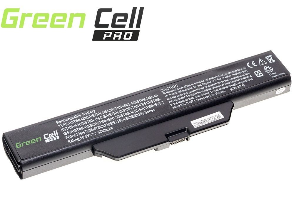Green Cell PRO Battery for HP 550 610 HP Compaq 6720s 6820s / 11,1V 5200mAh