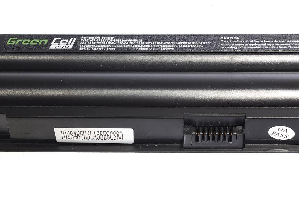 Green Cell PRO Battery for Sony Vaio PCG-71211M PCG-61211M PCG-71212M / 11,1V 5200mAh