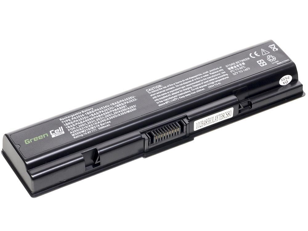 Green Cell PRO Battery for Toshiba Satellite A200 A300 A500 L200 L300 L500 / 11,1V 5200mAh