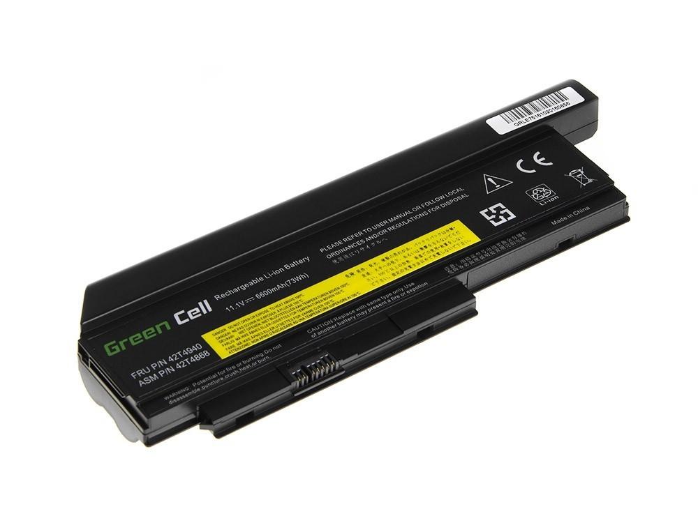 Green Cell Battery for Lenovo ThinkPad X220 X220i X220s / 11,1V 6600mAh