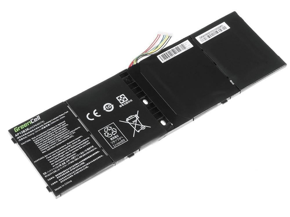 Green Cell Battery for Acer Aspire V5-552 V5-572 V5-573 V7-581 R7-571 / 15V 3400mAh