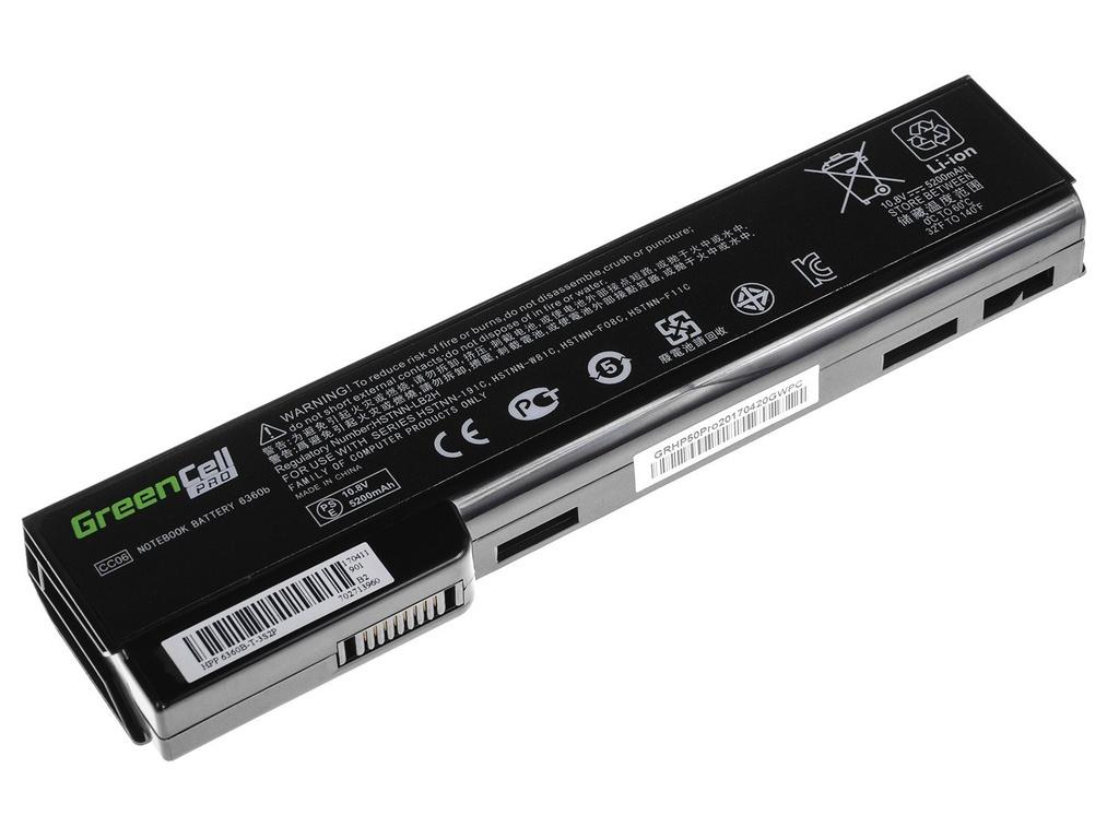 Green Cell PRO Battery for HP EliteBook 8460p ProBook 6360b 6460b / 11,1V 5200mAh