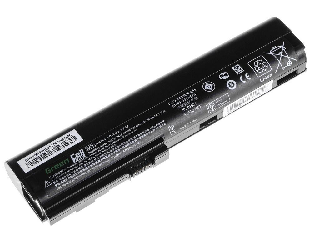 Green Cell PRO Battery for HP EliteBook 2560p 2570p / 11,1V 5200mAh