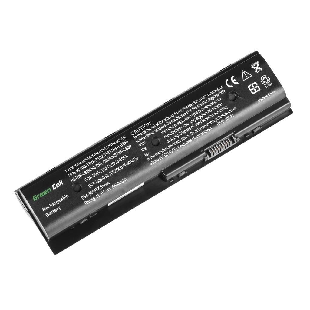 Green Cell Battery for HP Pavilion DV6-7000 DV7-7000 M6 / 11,1V 6600mAh