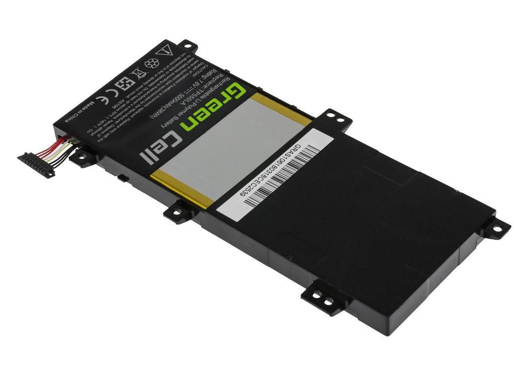 Green Cell Battery for Asus Transformer Book Flip TP550 TP550L / 7,6V 5000mAh