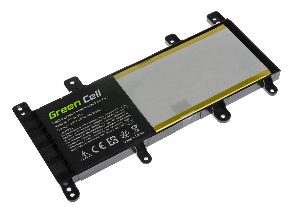 Green Cell Battery for Asus X756U / 7,6V 5000mAh