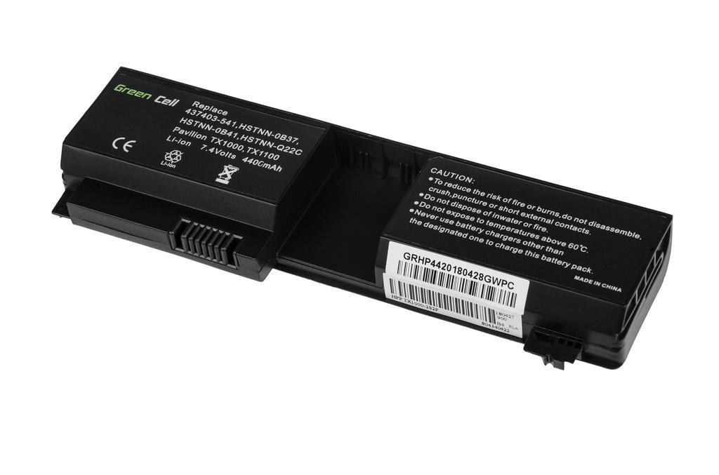 Green Cell Battery for HP Pavilion TX1000 TX2000 TX2500 / 7,4V 4400mAh