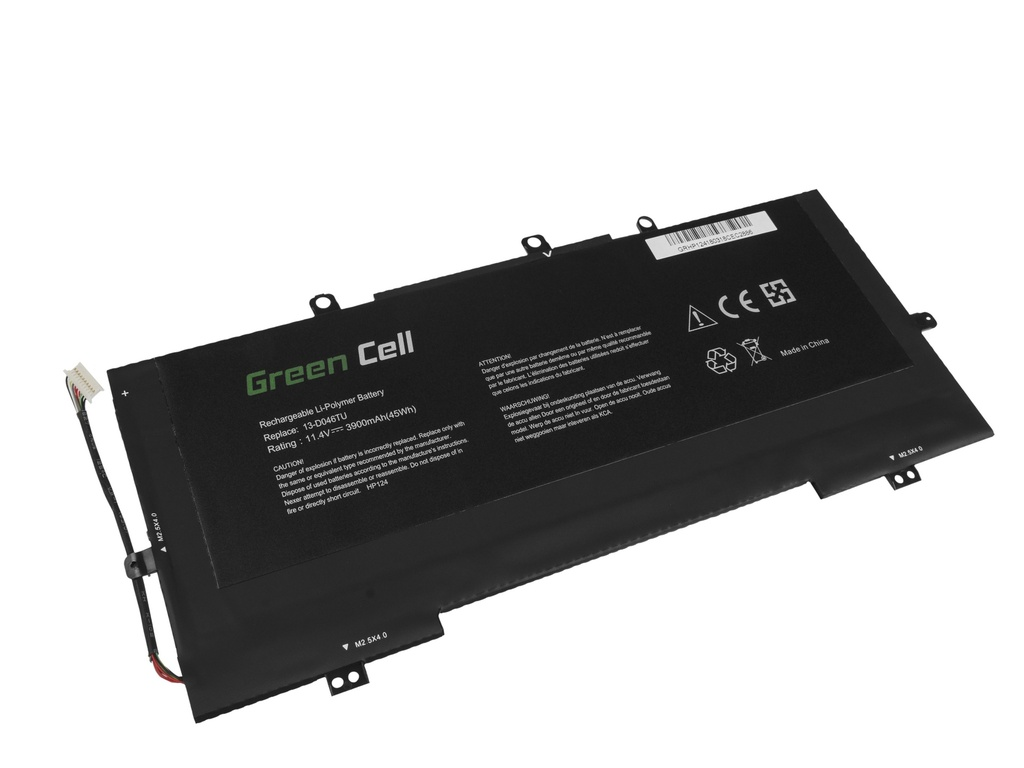 Green Cell Battery for HP Envy 13 13T / 11,4V 3900mAh