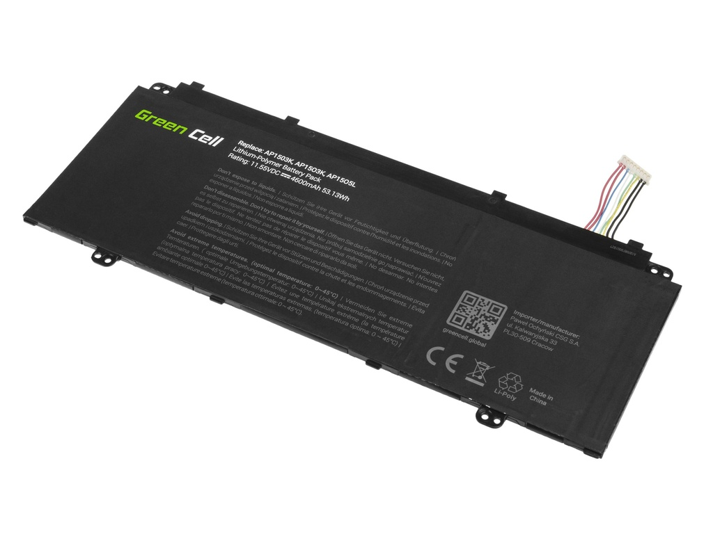 Green Cell Battery for Acer Acer Aspire S 13 S5-371 S5-371T Chromebook R 13 CB5-312T / 11,1V 4600mAh