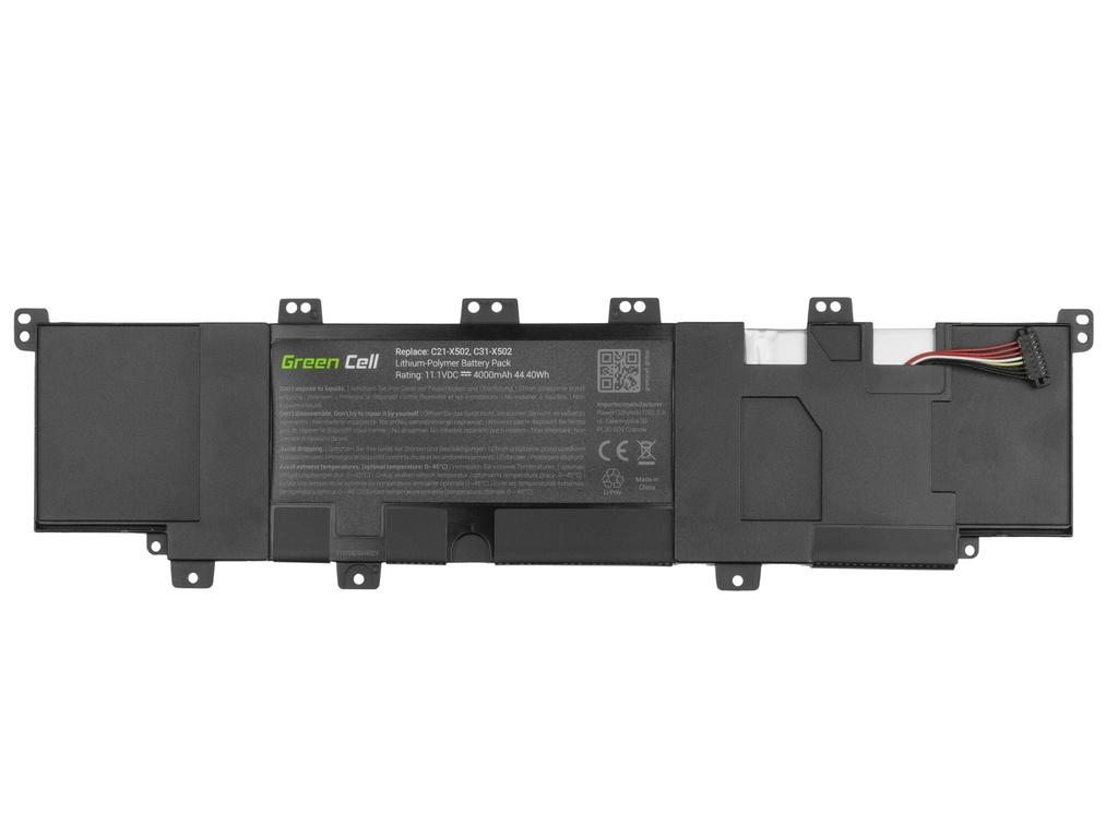 Green Cell Battery for Asus F502C X502C VivoBook S500C / 11,1V 4000mAh