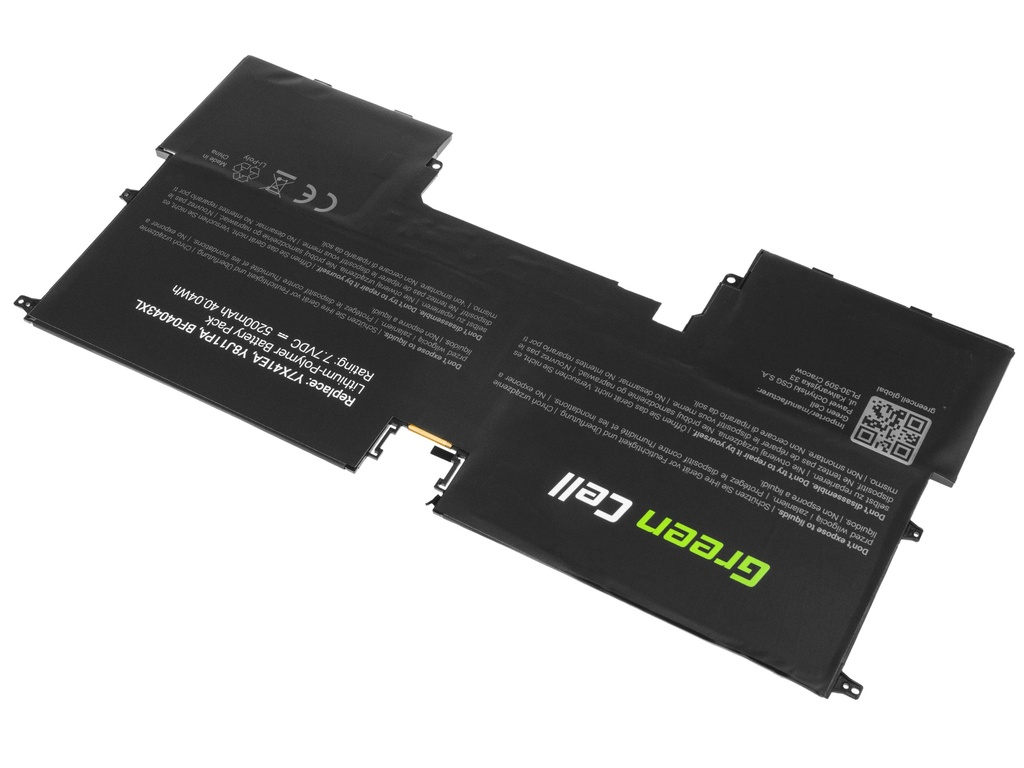 Green Cell Battery for HP Spectre 13 13T / 7,7V 5200mAh
