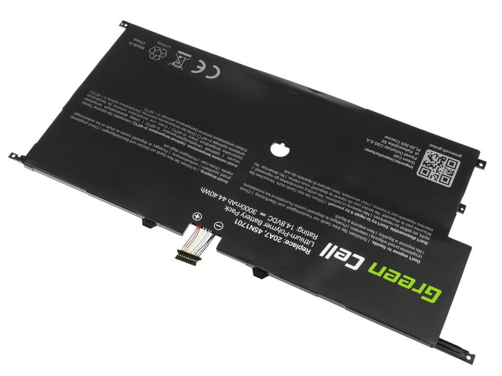 Green Cell Battery for Lenovo ThinkPad X1 Carbon 2nd Gen / 14,4V 3000mAh