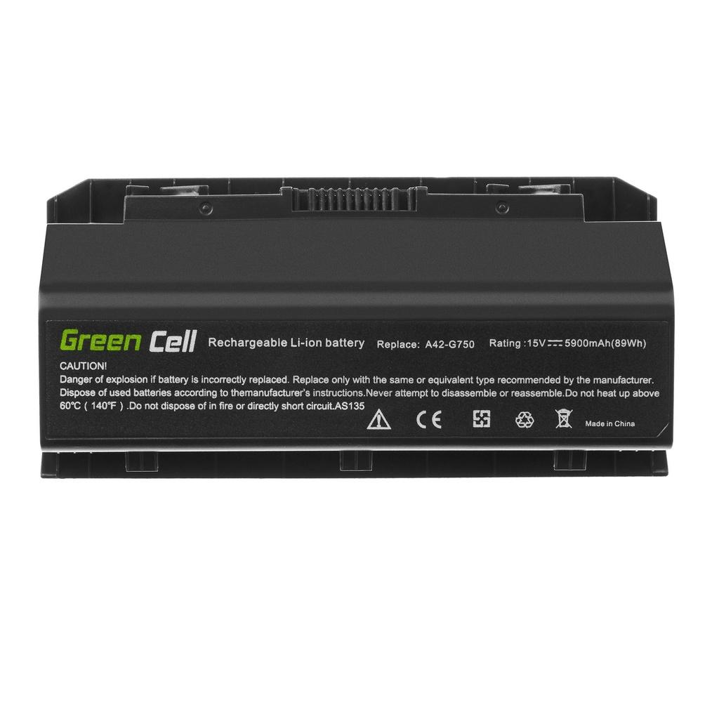 Green Cell A42-G750 Battery for Asus G750 G750J G750JH G750JM G750JS G750JW G750JX G750JZ / 15V 5900mAh