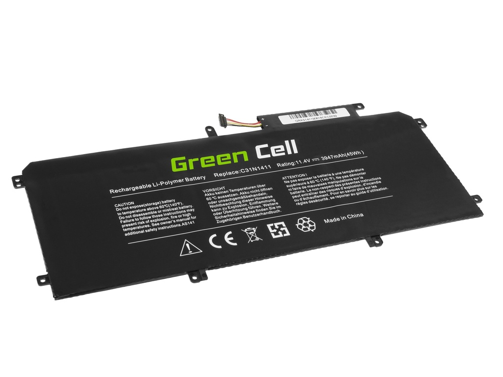 Green Cell Battery C31N1411 for Asus ZenBook UX305C UX305CA UX305F UX305FA