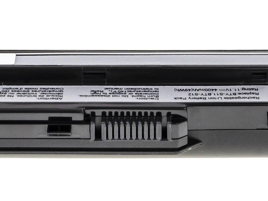 Green Cell Battery for MSI Wind U91 L2100 L2300 U210 U120 U115 U270 (black) / 11,1V 4400mAh