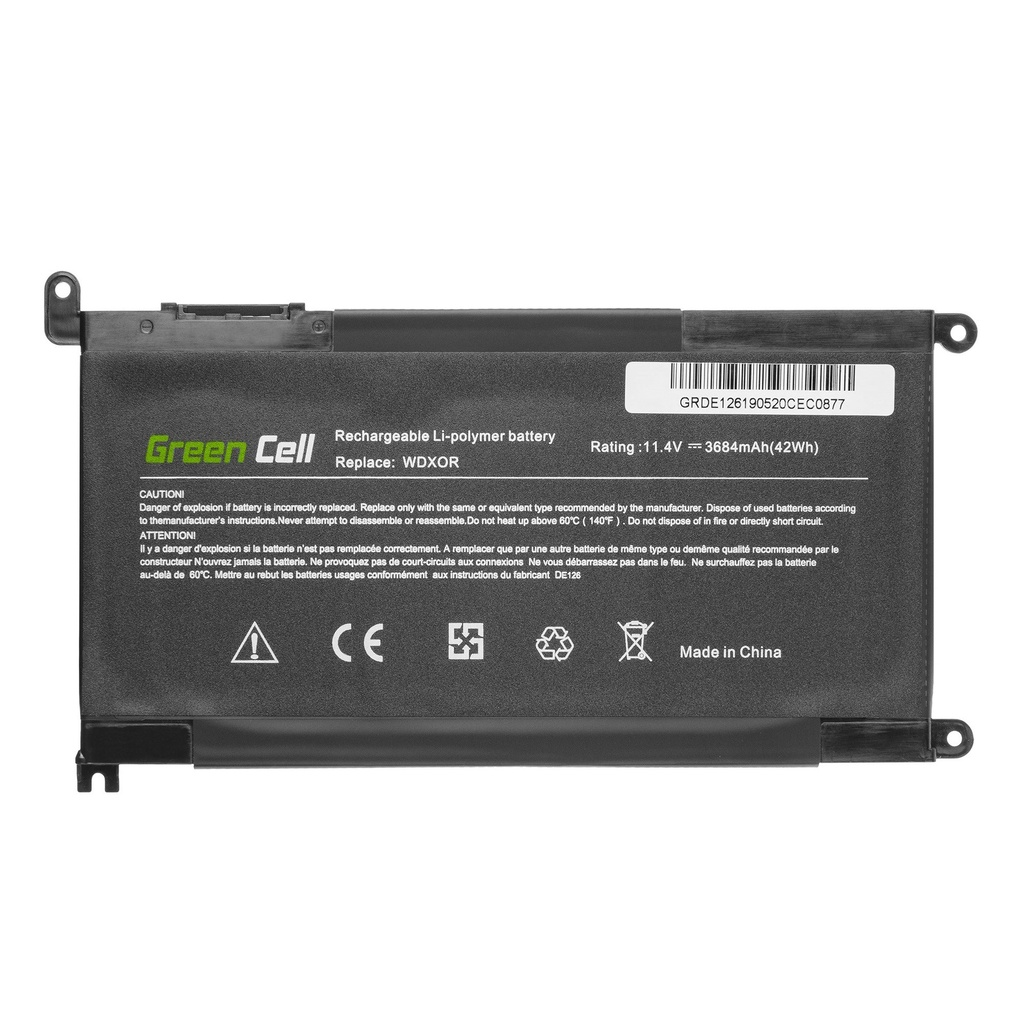 Green Cell Battery WDX0R WDXOR for Dell Inspiron 13 5368 5378 5379 15 5567 5568 5570 5578 5579 7560 7570 Vostro 14 5468 15 5568