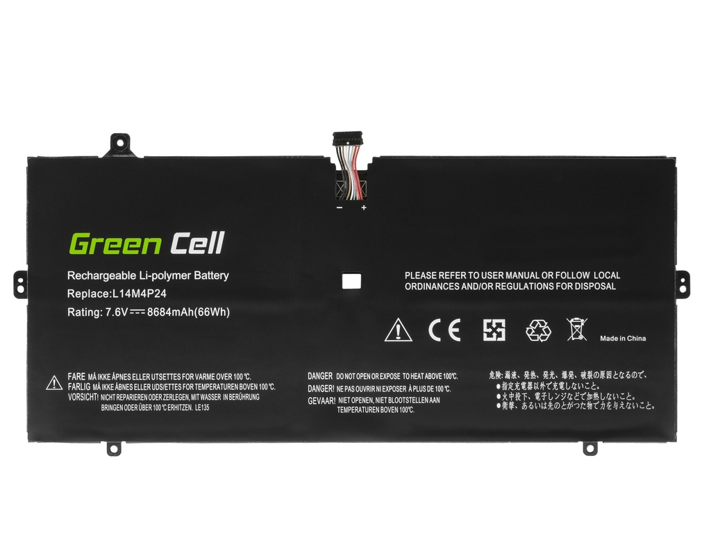 Laptop Battery Green Cell L14L4P24 L14M4P24 for Lenovo Yoga 900-13ISK 900-13ISK2