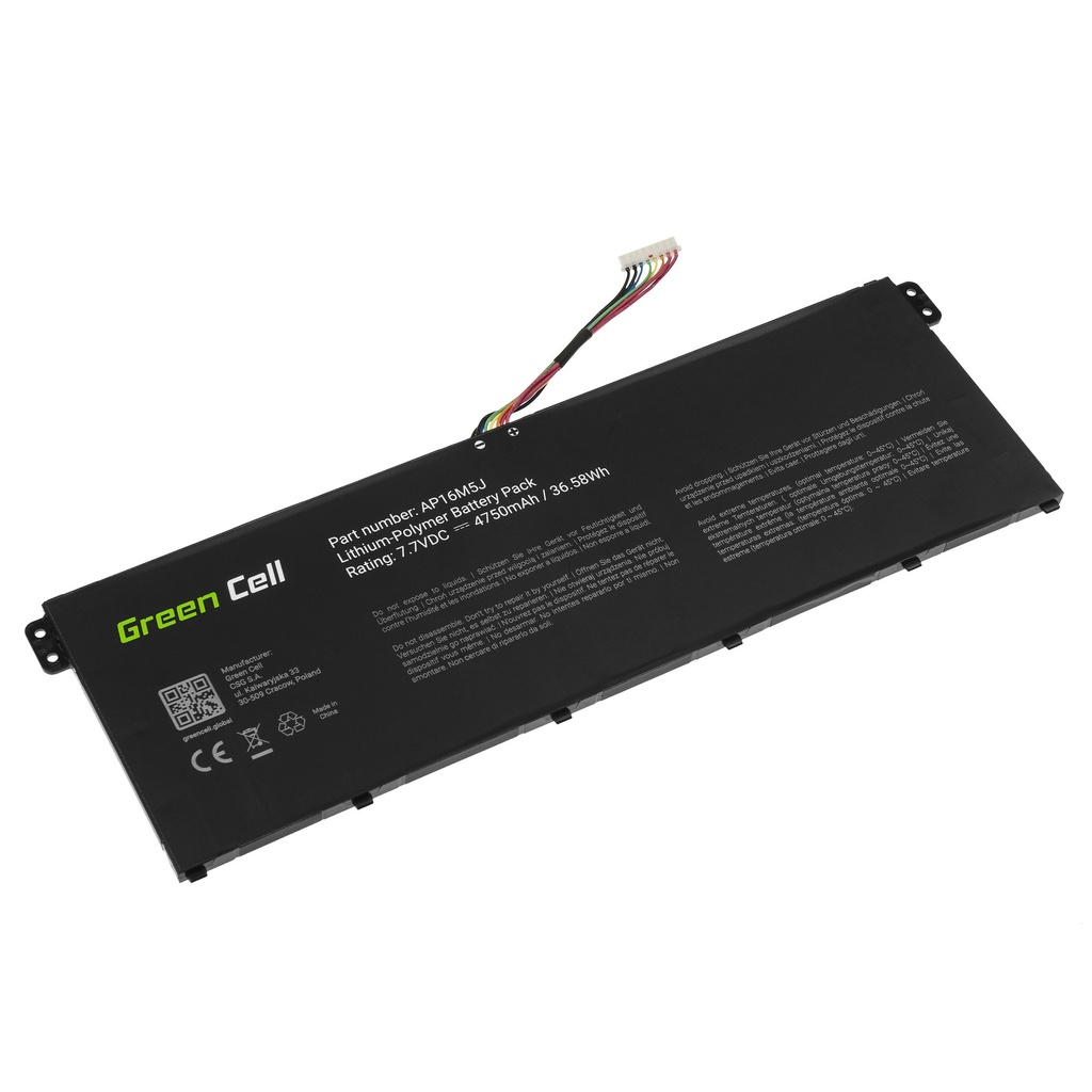 Battery Green Cell AP16M5J for Acer Aspire 3 A315  A315-31 A315-42 A315-51 A317-51 Aspire 1 A114-31