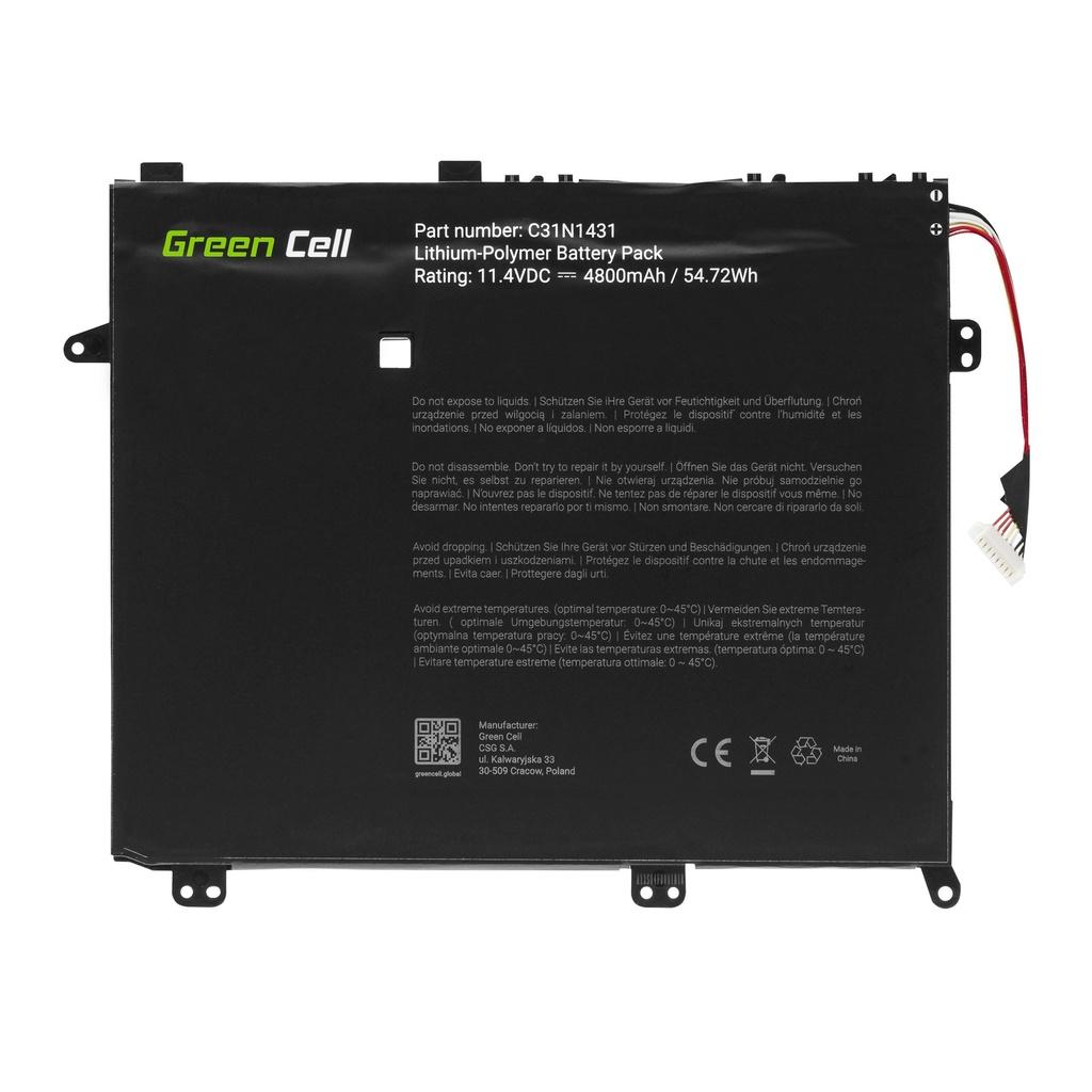BatteryGreen Cell C31N1431 for Asus E403 E403N E403NA E403S E403SA
