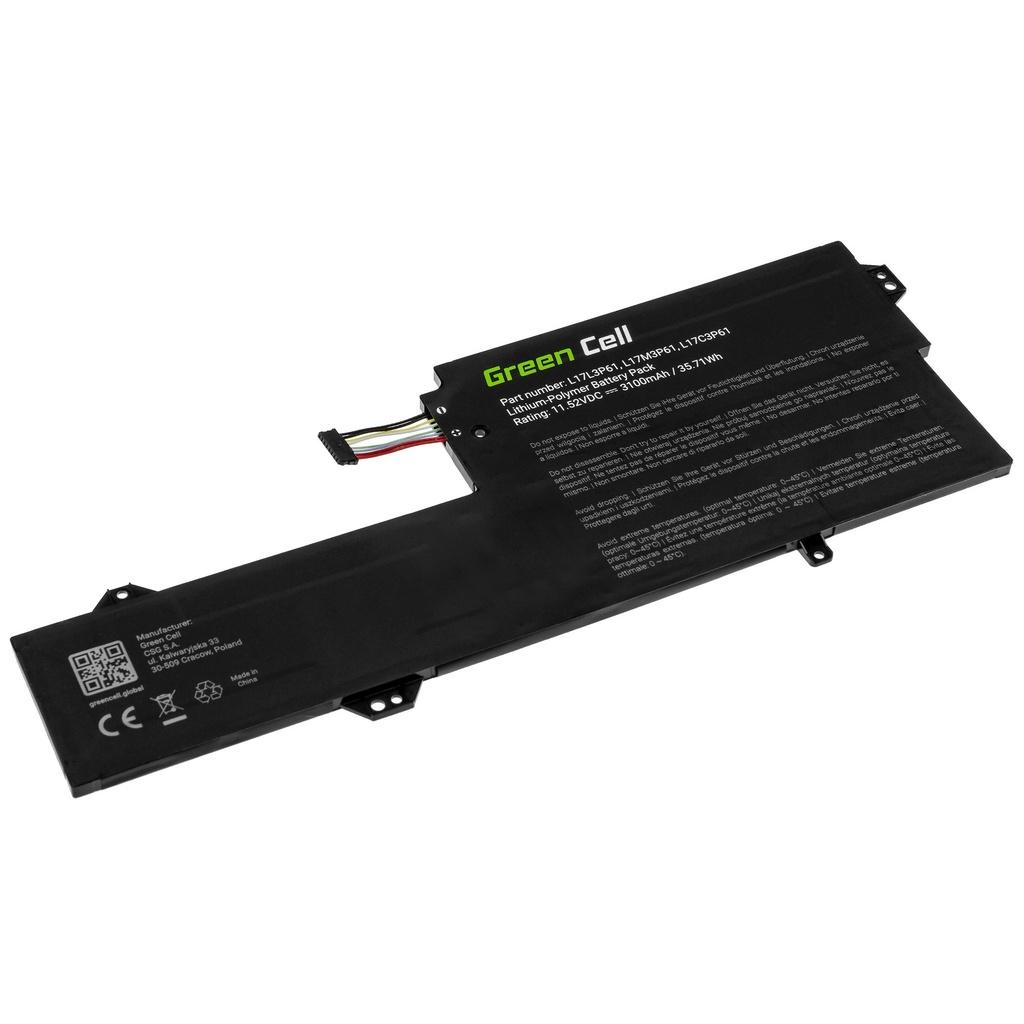 Battery Green Cell L17C3P61 L17L3P61 L17M3P61 for Lenovo Flex 6 11 6-11IGM, IdeaPad 320s-13IKB, Yoga 330-11IGM 720-12IKB