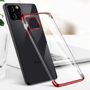 Clear Color Case Gel TPU Electroplating frame Cover for iPhone 12 6,1'' black