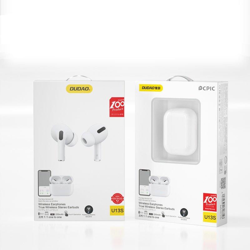Dudao mini wireless earphone Bluetooth 5.0 TWS Pro white (U13s)