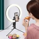 Baseus photo ring flash fill light LED lamp 10'' for smartphone (YouTube, TikTok) + mini desk tripod black (CRZB10-A01)