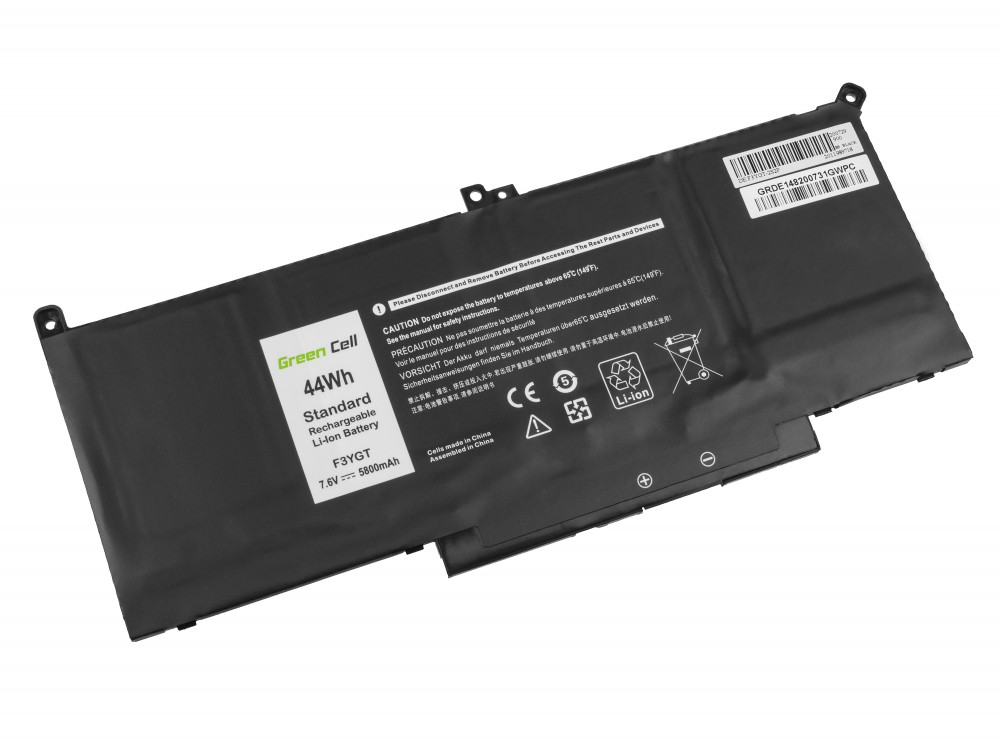 Green Cell Battery F3YGT for Dell Latitude 7280 7290 7380 7390 7480 7490